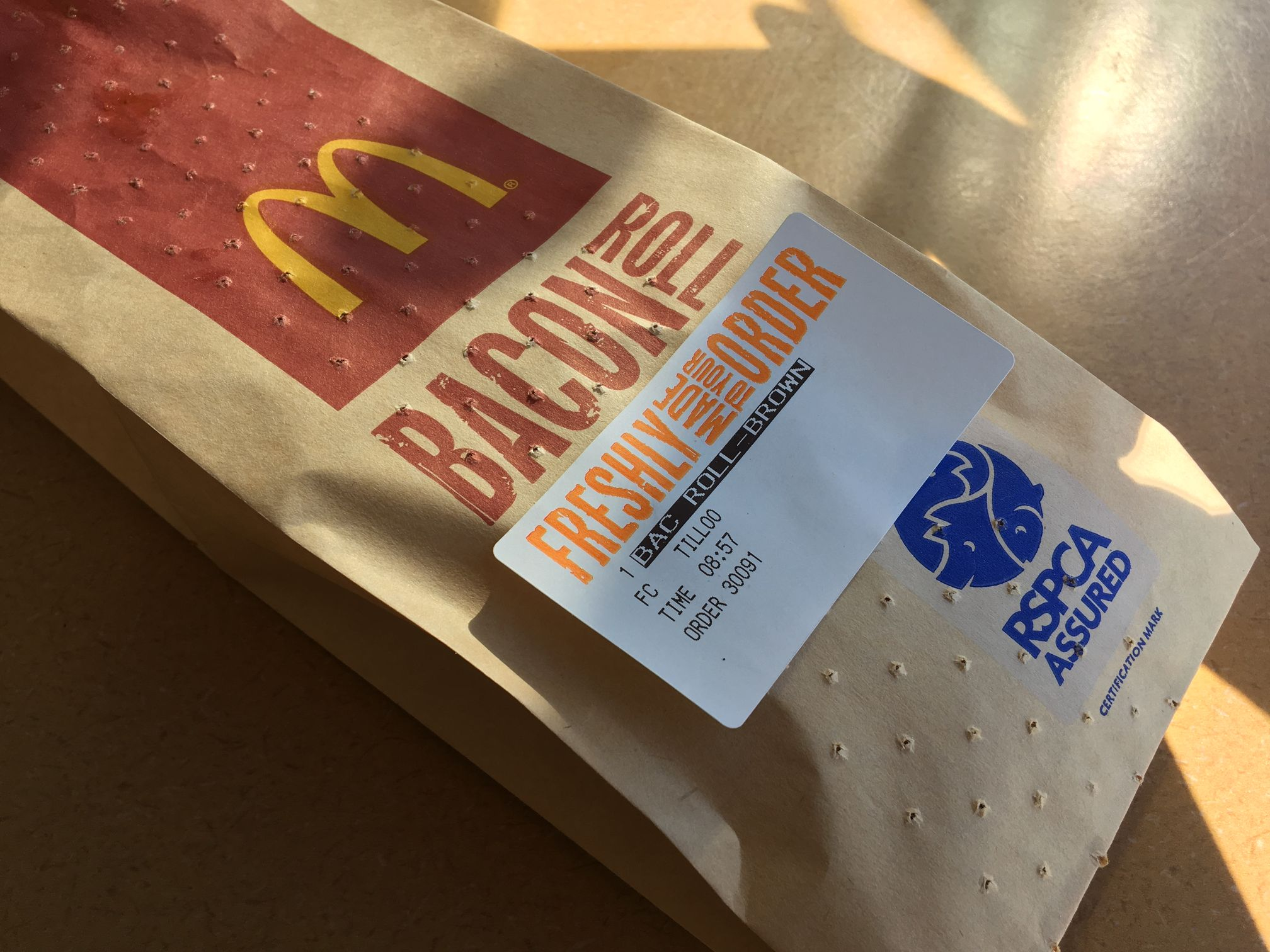 McDonald's Old Bacon Roll