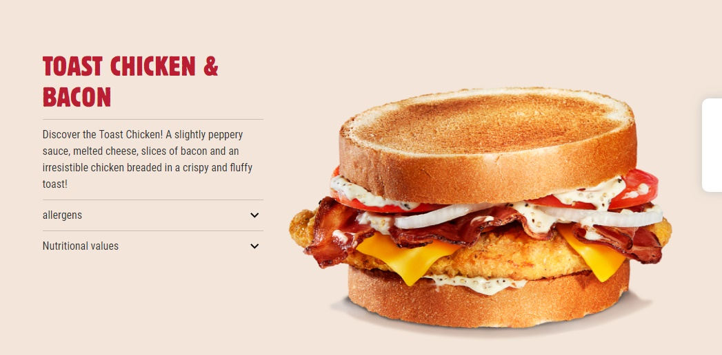 BK France Toast Chicken & Bacon