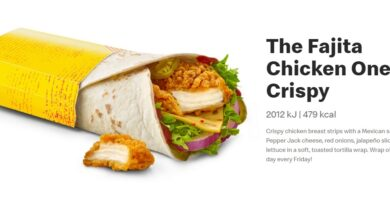 Fajita Chicken Wrap Crispy