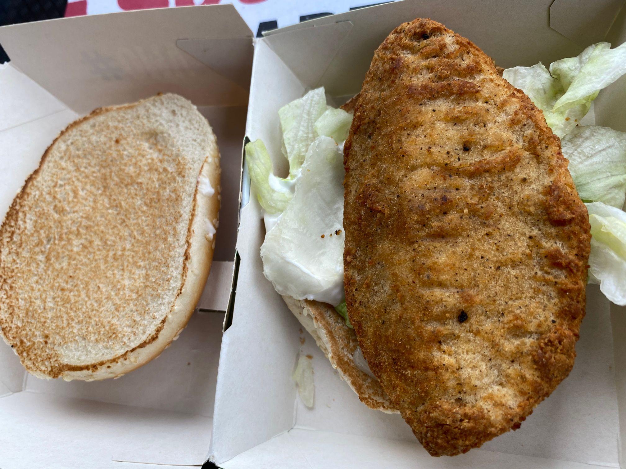 KFC Original Recipe Vegan Burger
