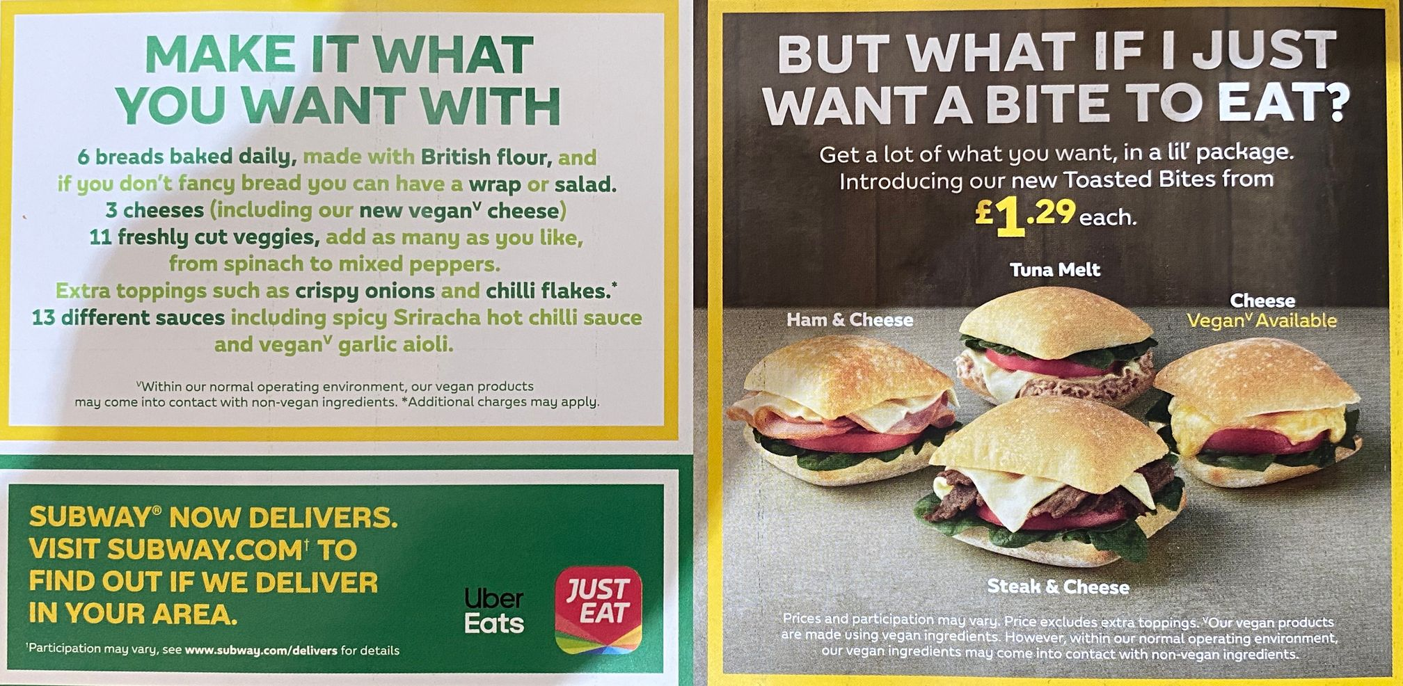 Subway Toasted Bites