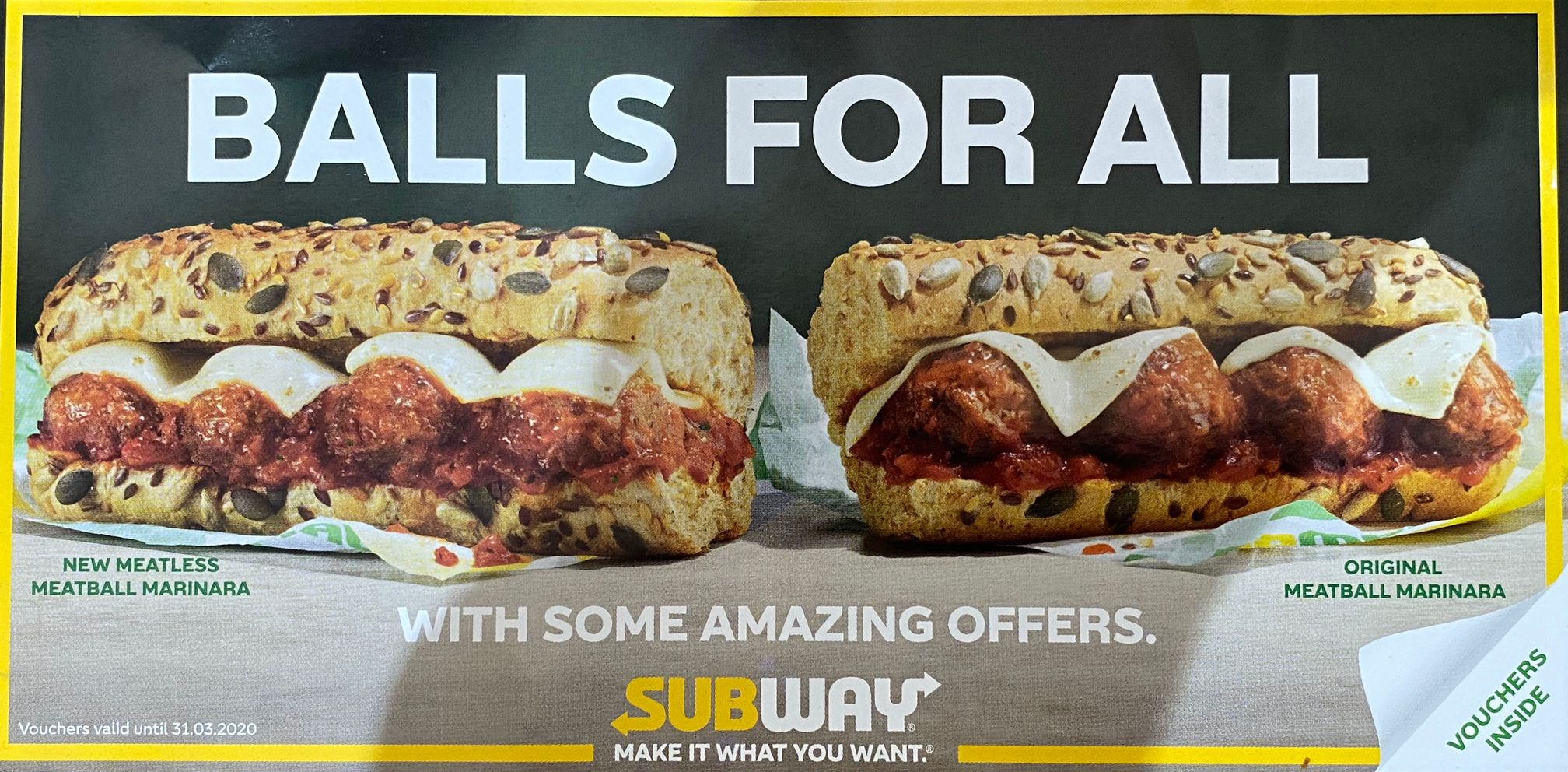 Subway Meatless Meatball Marinara