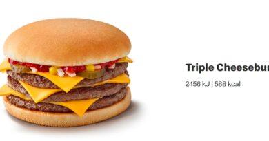 McDonald's Triple Cheeseburger