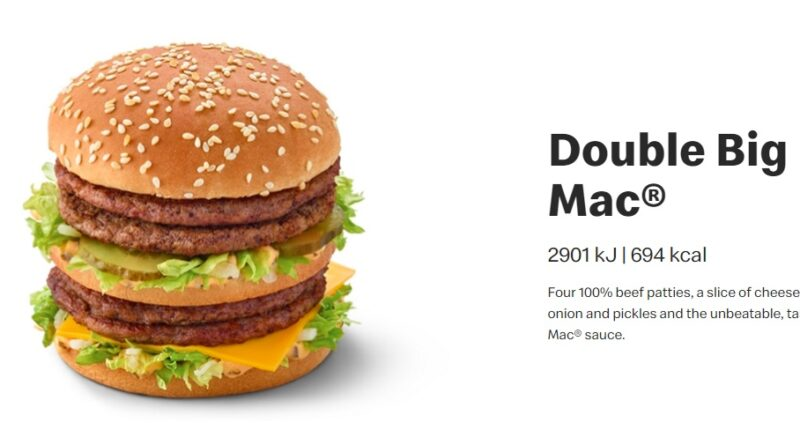 McDonald's Double Big Mac