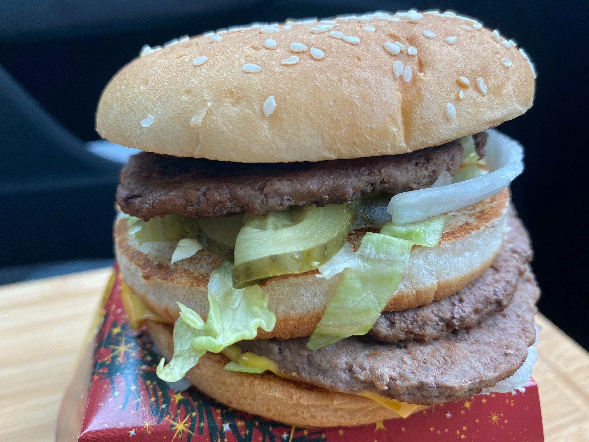 Double Big Mac UK 2020