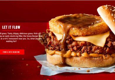 KFC Christmas Gravy Burger